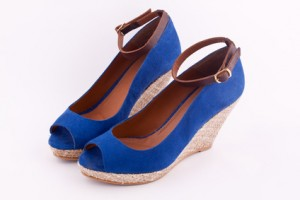 Espadrilles in Royalblau