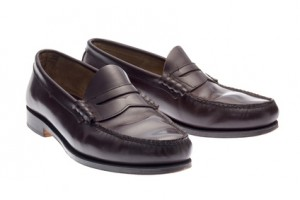 braune Loafers