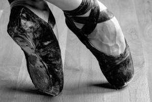 Echte Ballettschuhe