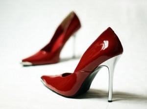 Rote Lack High Heels