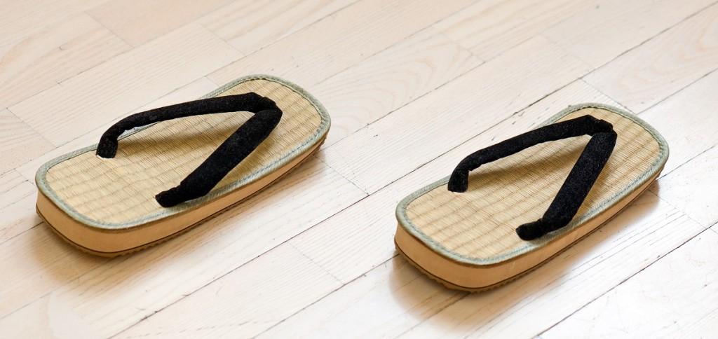 Traditionelle japanische Sandalen