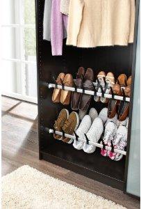 Schuhaufbewahrung im Kleiderschrank